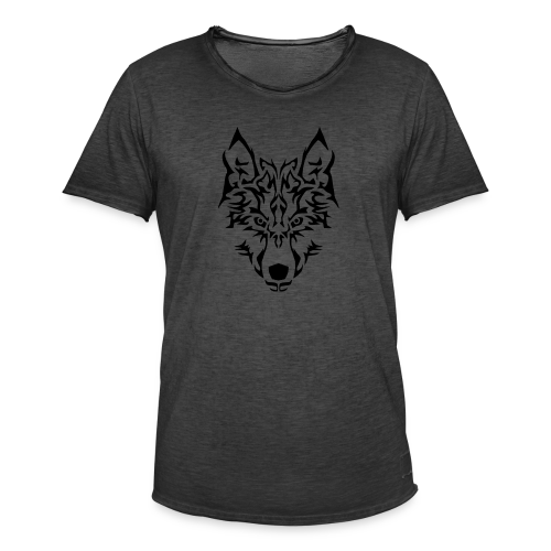 Tribal Wolf - T-shirt vintage Homme