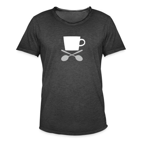 Coffee till I die - Mannen Vintage T-shirt