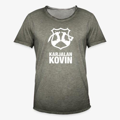 karjalan kovin pysty - Miesten vintage t-paita