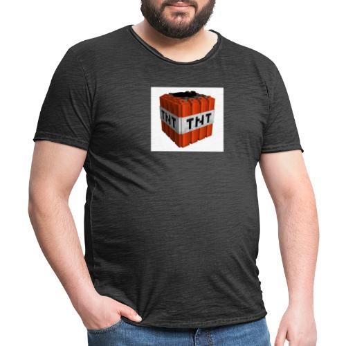 tnt block - Mannen Vintage T-shirt