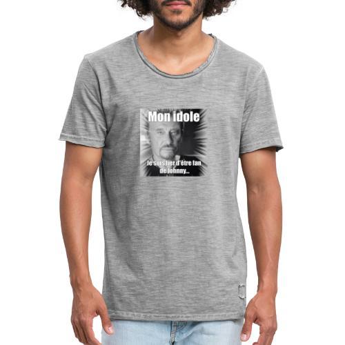 Mon idole Johnny Hallyday - T-shirt vintage Homme