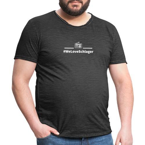 WeLoveSchlagerRadio - Männer Vintage T-Shirt