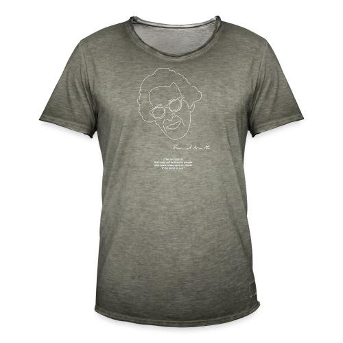 Hannah Arendt Sketch and Quote - Männer Vintage T-Shirt