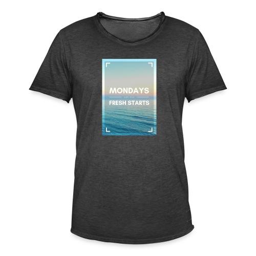 Start in die Woche - Männer Vintage T-Shirt