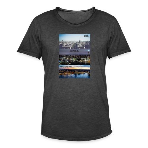 Paris London Amsterdam - Männer Vintage T-Shirt