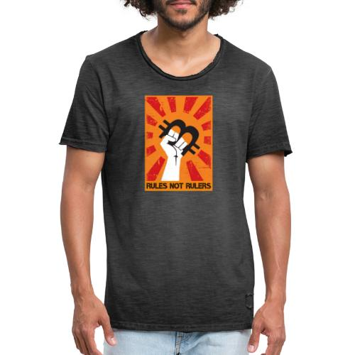 rules not rulers - Männer Vintage T-Shirt