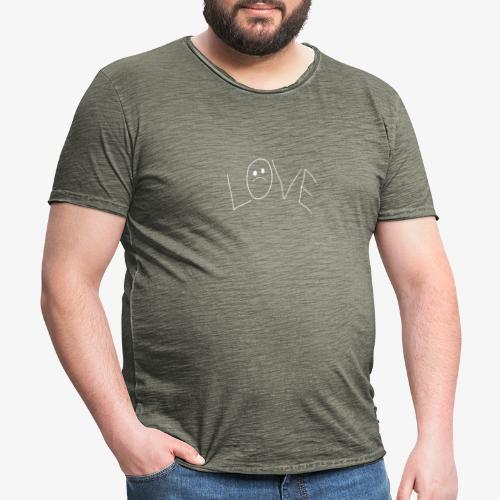 Lil Peep Love Tattoo - Männer Vintage T-Shirt