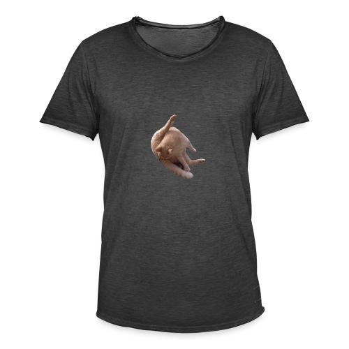 Cat sucking Balls - Camiseta vintage hombre