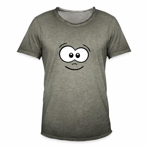 Gesicht fröhlich - Männer Vintage T-Shirt