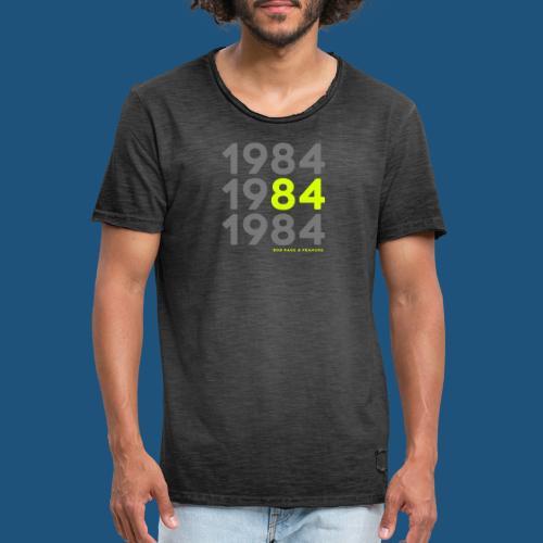 Bob Rage & Peanuke 1984 - Maglietta vintage da uomo