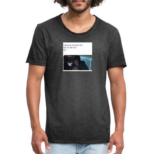 Lärare - Vintage-T-shirt herr