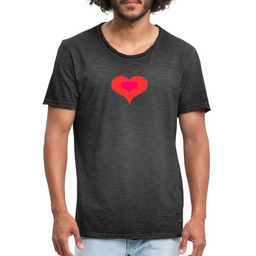 Corazon II - Camiseta vintage hombre