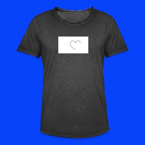 t-shirt bianca con cuore - Maglietta vintage da uomo