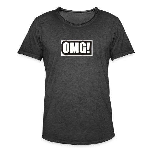 large wordprops omg - Vintage-T-shirt herr