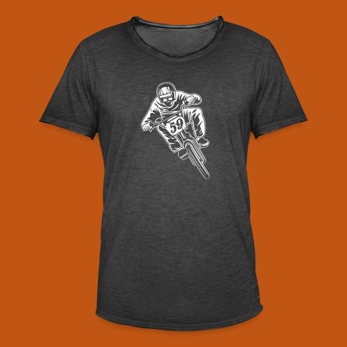 BMX Fahrrad / Bike 02_weiß - Männer Vintage T-Shirt