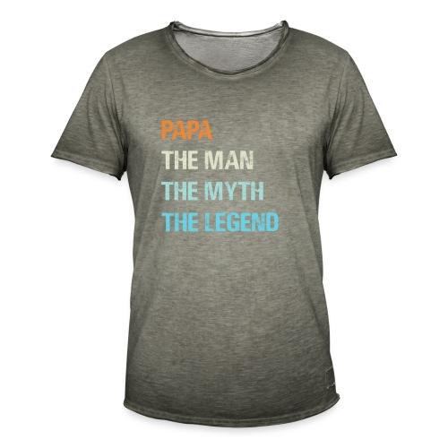 Papa de man de legende. Cadeau idee vaderdag. - Mannen Vintage T-shirt