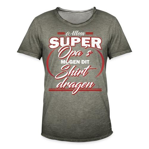 Alleen super opa's vaderdagcadeau - Mannen Vintage T-shirt