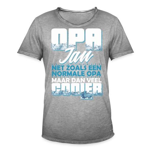Opa Jan net zoals een normale opa, veel cooler - Mannen Vintage T-shirt