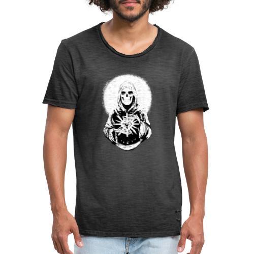 ✦ Halo blanco de la Santa Muerte ✦ - Männer Vintage T-Shirt
