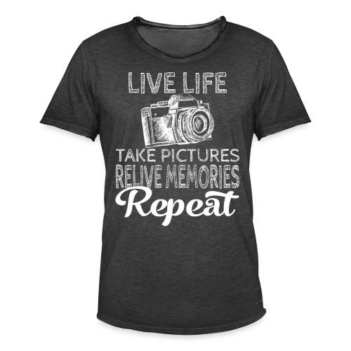 Take Pictures Skizzierter Fotoapparat Fotografie - Männer Vintage T-Shirt