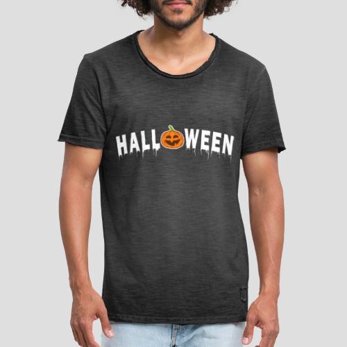 HALLOWEEN - mit Kürbis in Weiß - Männer Vintage T-Shirt