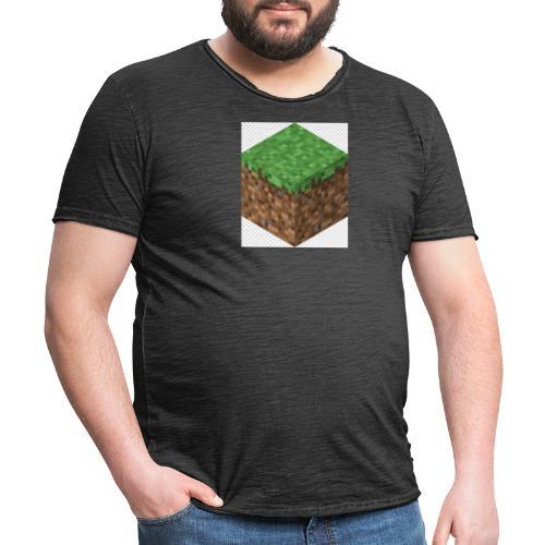 mincreft block - Mannen Vintage T-shirt