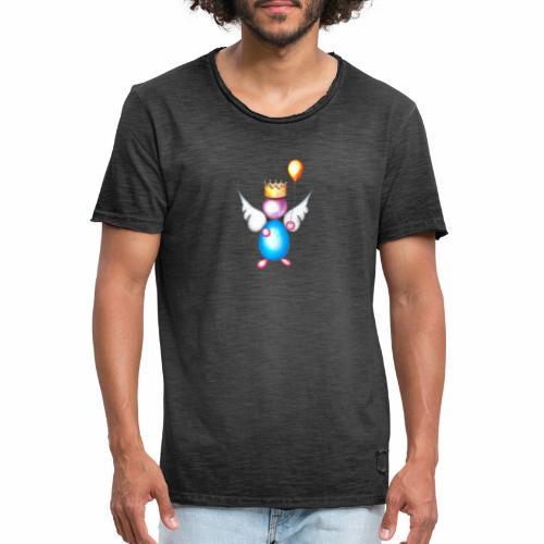 Mettalic Angel geluk - Mannen Vintage T-shirt