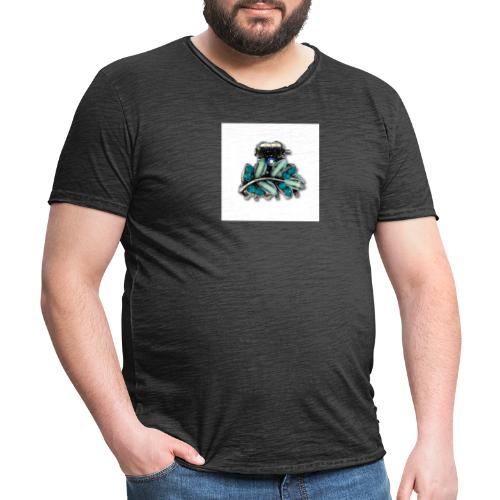 bleu - T-shirt vintage Homme