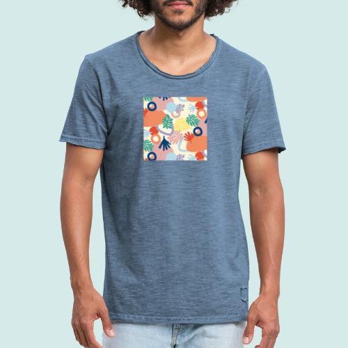 Urban leaves - Männer Vintage T-Shirt