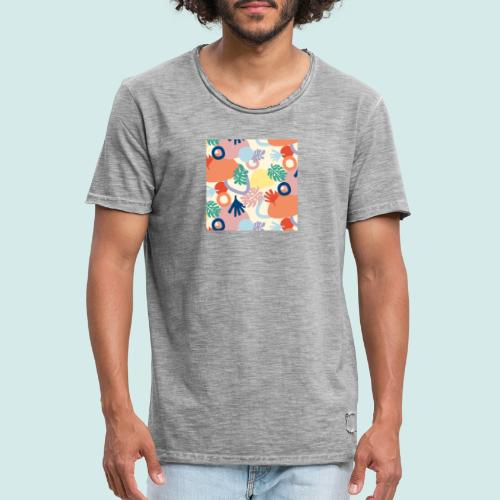 Urban leaves - Männer Vintage T-Shirt