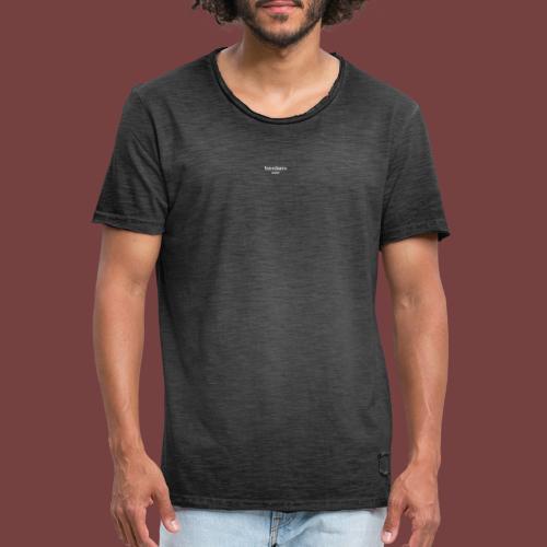 bænkørs hvit tekst - Vintage-T-skjorte for menn