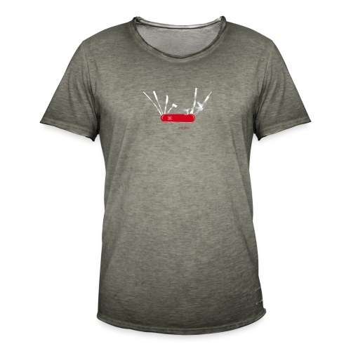 In case of zombies - Männer Vintage T-Shirt