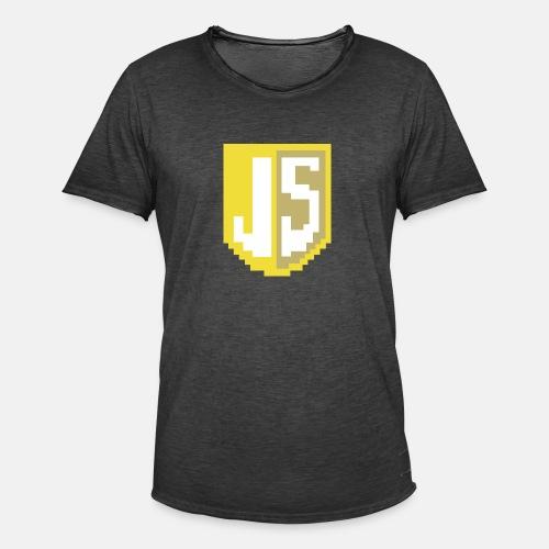 JavaScript Pixelart Logo - Männer Vintage T-Shirt