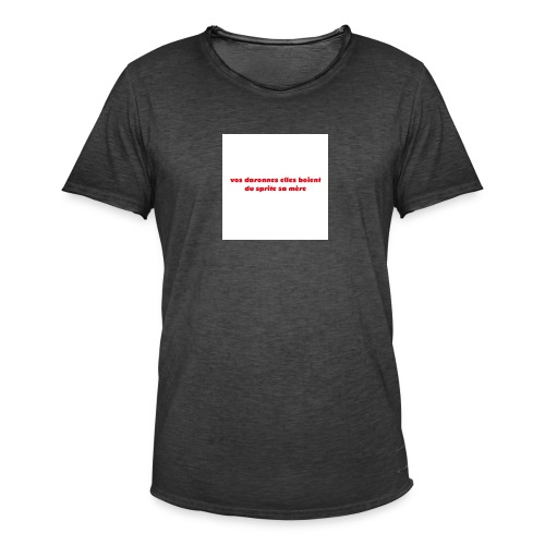 tee vos daronnes elles boient du sprite sa mère - T-shirt vintage Homme