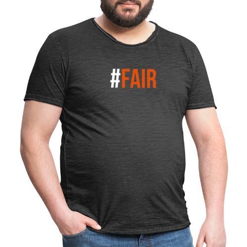 FAIR Ändern ist die Zukunft - Männer Vintage T-Shirt