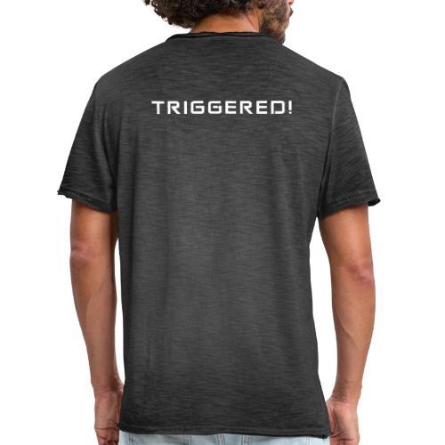 White Negant logo + TRIGGERED! - Herre vintage T-shirt