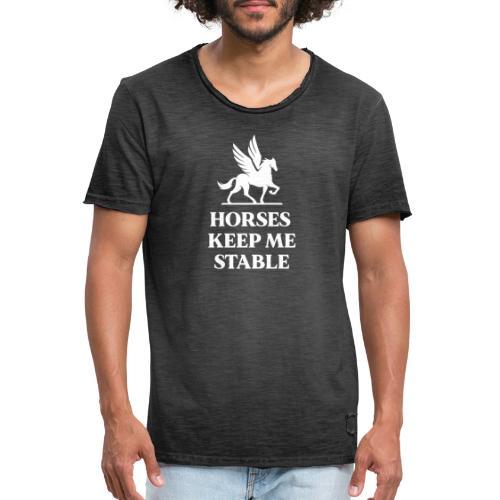 Paarden houden mij stabiel - Mannen Vintage T-shirt