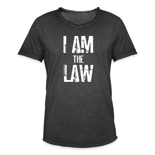 Tank top girl woman I AM THE LAW per avvocatessa - Men's Vintage T-Shirt