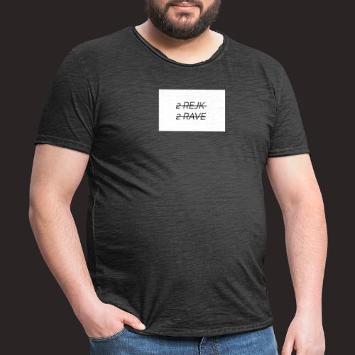 2 Rejk 2 Rave valkoinen - Miesten vintage t-paita
