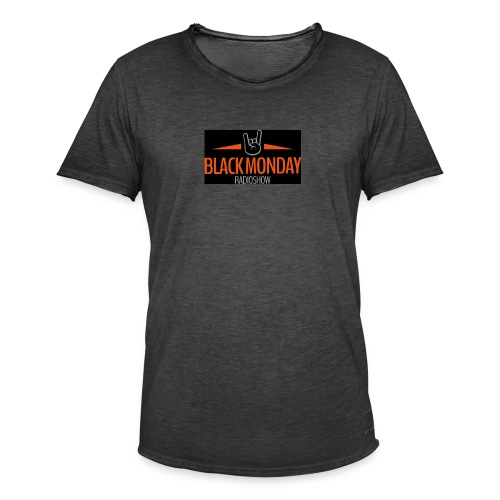 Black Monday Radio Logo - Mannen Vintage T-shirt