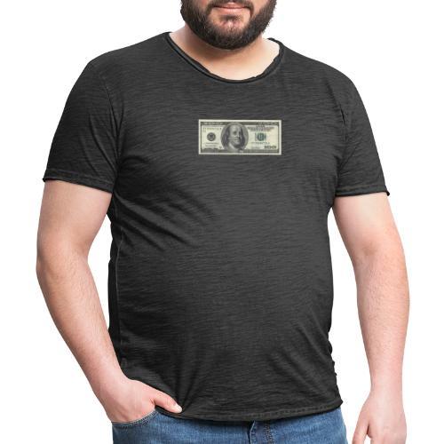 Dollar tegn box - Herre vintage T-shirt