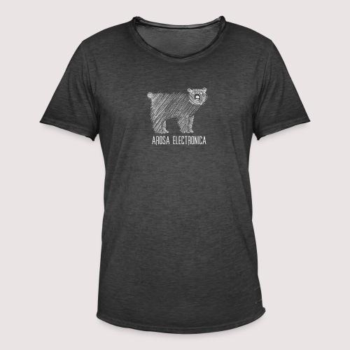 Bär Weiss - Männer Vintage T-Shirt