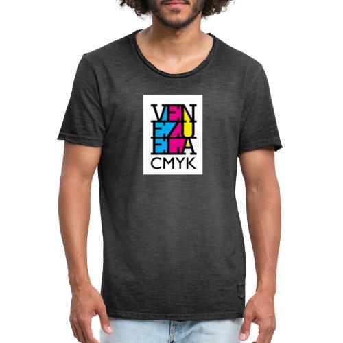 Venezuela CMYK - Camiseta vintage hombre