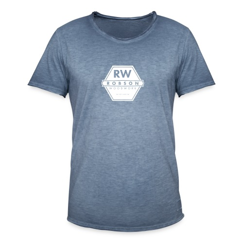 RW Logo In White - Men's Vintage T-Shirt