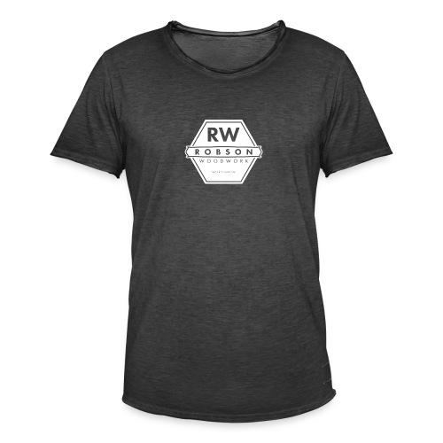RW Logo In White - Men's Vintage T-Shirt