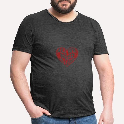 All we need is love Custom Design T-shirt Apparel - Men's Vintage T-Shirt