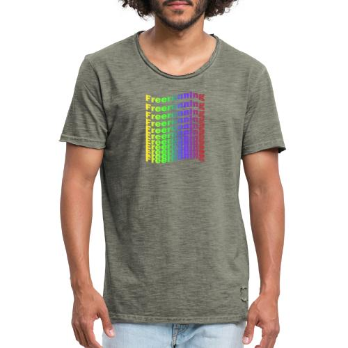 Freerunning Rainbow - Herre vintage T-shirt