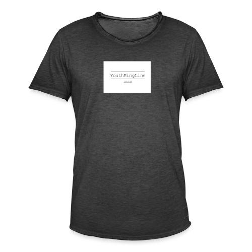 YouthKingline White T-shirt - Men's Vintage T-Shirt