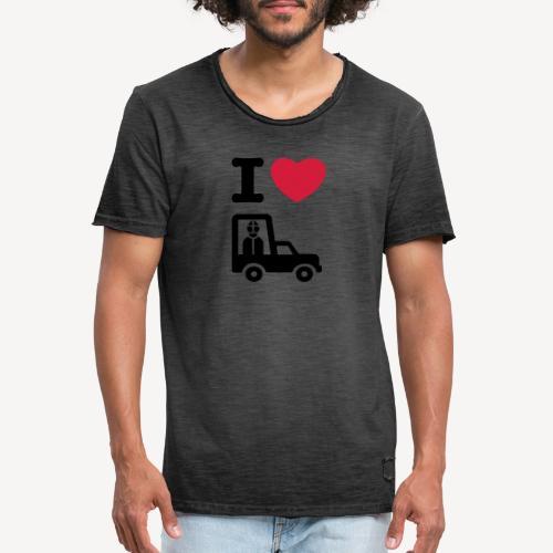 Papst im Auto - Men's Vintage T-Shirt