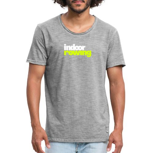 indoor rowing logo 2c - Men's Vintage T-Shirt